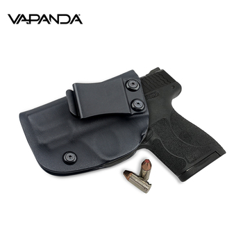 Vapanda Hunting Kydex Holster Black Gun Holster for Smith Wesson M&P Shield  9MM/ 40 S&W IWB Concealed Carry Pistol Holsters