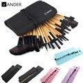 VANDER 32 piezas conjunto de maquillaje profesional cepillo de La Fundación sombras de ojos de lápices labiales en polvo hacer cepillos herramientas w/bolsa de pincel maquiagem