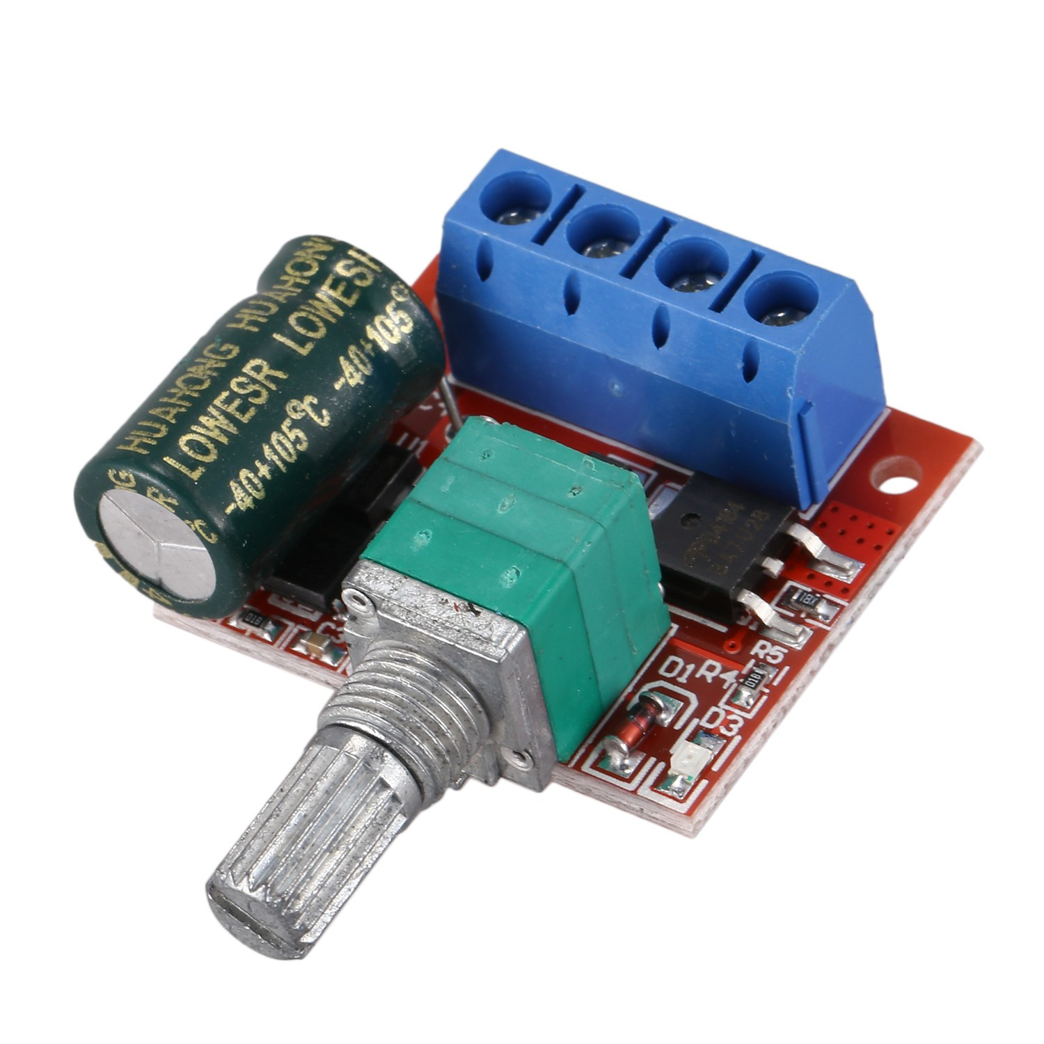 1pcs DC5-35V 5A PWM DC Motor Speed Controller LED Light Dimmer Switch 10KHz Controller Volt Regulator Electrical DC Motor Boards