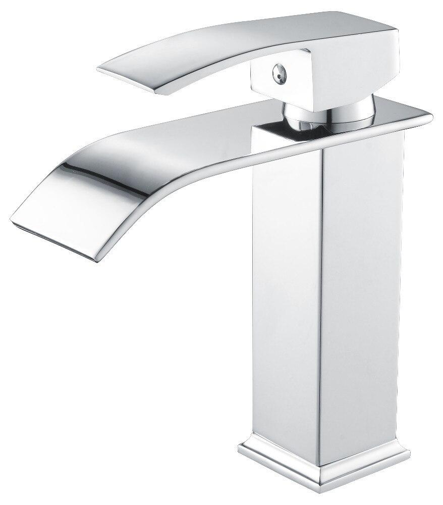 Robinets salle de bains évier bassin en laiton robinet cascade robinet d'eau robinet lavabo moderne mélangeur mitigeur robinets - 2