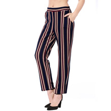 3990e90c0560 2018 Summer European And American Casual Pants Wish Amazon AliExpress  Explosion Models L Striped Elastic Waist