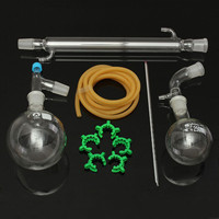 New 500ml 24/29 Joint Distillation Apparatus Laboratory Chemistry Glassware Kit Set Lab Glass Distilling Distillation Apparatus