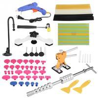 Car PDR T Bar Tools Body Paintless Dent Repair Puller Lifter PDR Tools T Bar Hammer Removal Glue Gun Kit Car Accessories New