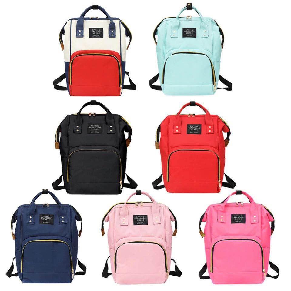Large Capacity Mummy Diaper Bags Zipper Travel Backpacks Maternity Mother Handbags Pregnant Women Baby Nappy Nursing Diaper Bag