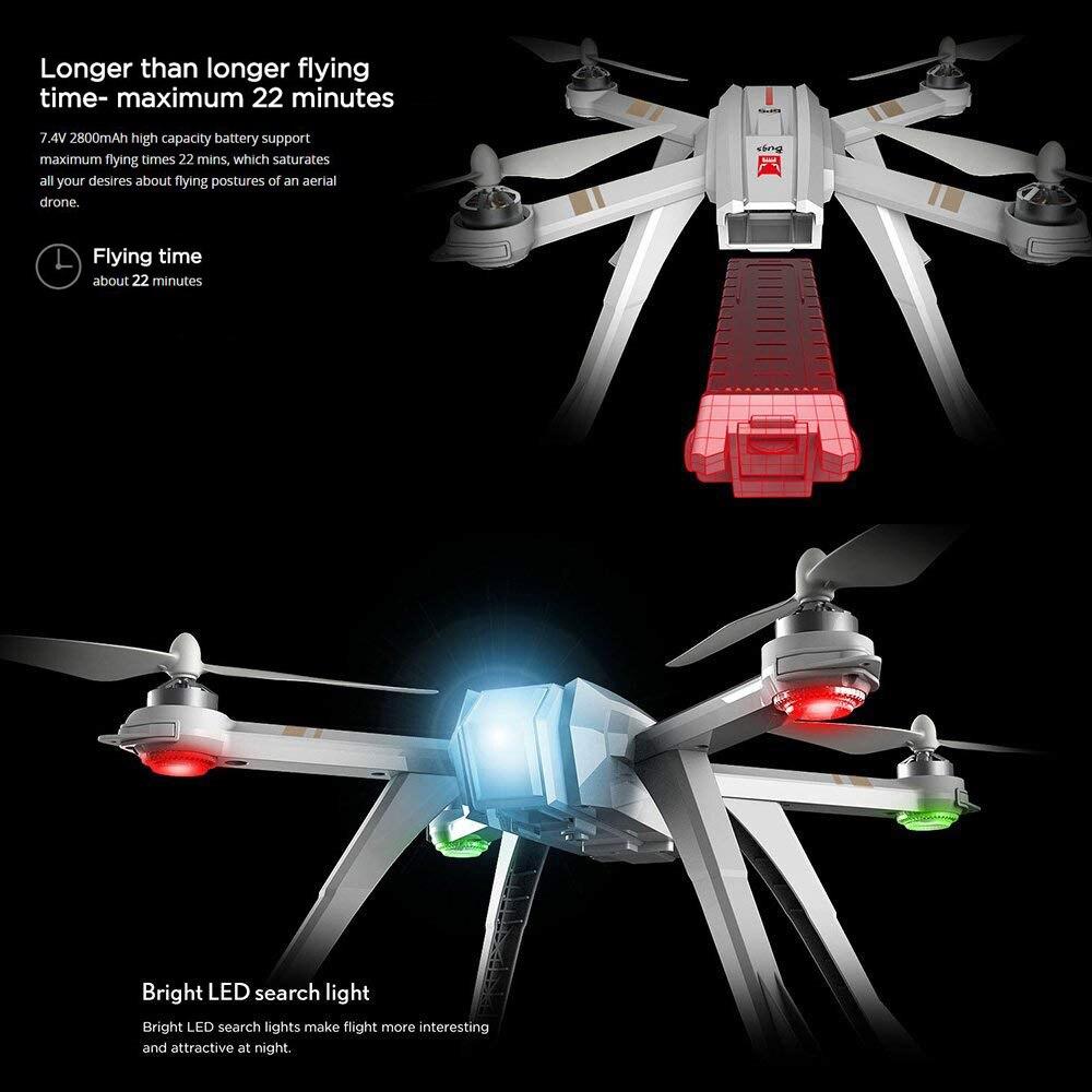 Image 2 - MJX バグ 3 プロ B3PRO RC ドローン Dron 4 チャンネルリモートコントロール Quadcopter ヘリコプター Wifi FPV アプリ制御多機能ドローン -    グループ上の おもちゃ & ホビー からの ラジコン ヘリコプター の中