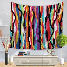 Bohemian Wall Mandala Tapestry Hanging Mountain Floral Colored Drawing Psychedelic Abstract Hippie Boho Cloth