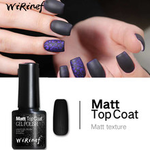 WiRinef Fosco Top Coat UV Gel Unha Top Coat Base de Cartilha Verniz Gel Nail Art Soak Off Polonês Gel Transparente(China)