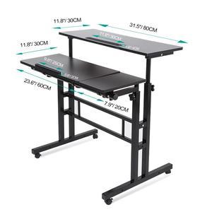 Image 4 - ปรับโต๊ะแล็ปท็อปแบบพกพาLapdeskถาดPCขาตั้งโน้ตบุ๊คโต๊ะยืน