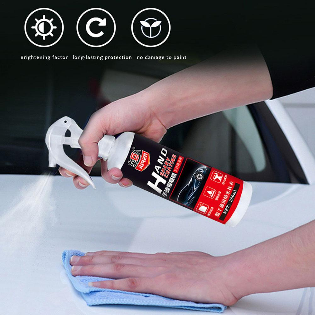 Image 4 - Liquid Ceramic Spray Coating Car Polish Spray Sealant Top Coat Quick Nano Coating 260ML Car Spray Wax Car Cleaning Dropshipping-in Paint Protective Foil from Automobiles & Motorcycles