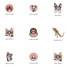 Cat Dog Dinosaur Panda Patches Cap Shoe Iron On Embroidered Appliques DIY Apparel Accessories Patch Clothing Fabric Badges BU208(China)