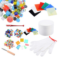 10pcs New Fusing Supplies Glass Kit Microwave Kiln Kit Tool Set Craft DIY Jewelry Pendant Ceramic Accessories Supplies