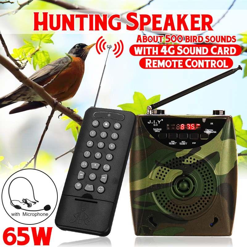 SGODDE Camouflage 48 W électrique chasse leurre haut-parleur oiseau appelant prédateur son lecteur MP3 avec télécommande 4G carte son