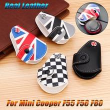 Натуральная кожа удаленный брелок, чехол для ключей сумка крышка Держатель для Mini Cooper, Countryman, Clubman R55 R56 F55 F56 F60 автомобильный стильный аксессуар