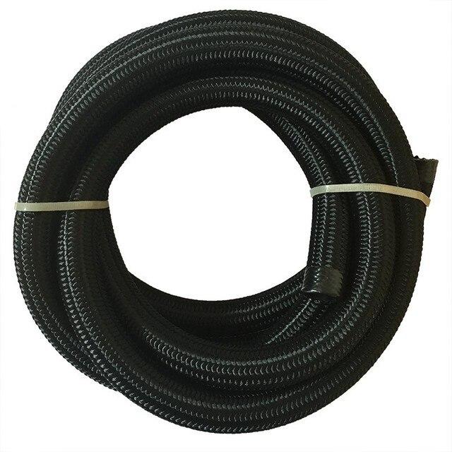 ESPEEDER 3M AN Racing Hose Nylon Stainless Steel Hose Fuel Line Universal Oil Cooler Hose Pipe AN4 AN6 AN8 AN10 AN12 Black