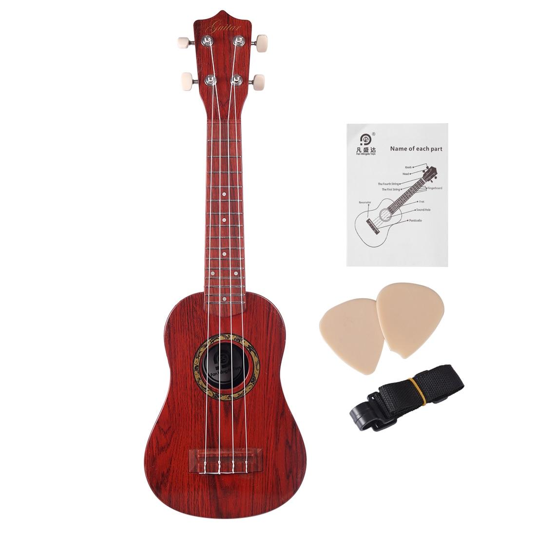 Enfants guitare éducation précoce Instrument de musique jouet jouets musicaux pour enfants bébé cadeau d'anniversaire-Grain de bois d'acacia