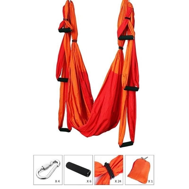 XC 6 poignée Anti-gravité aérienne Yoga hamac Yoga exercice ceintures Fitness entraînement Yoga équipement Yoga hamac + mousqueton + sac en tissu