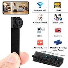 3000 mah Мини WI-FI Гибкая камера 1080 P Мощность Дисплей аудио-видео Регистраторы движения камера-регистратор с датчиком движения IP P2P дистанционным Micro Cam