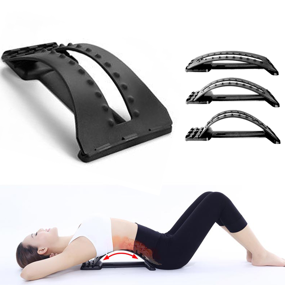 New Magic Back Massager Stretcher Lumbar Support Device For Upper And Lower Back Pain Relief Chiropractic