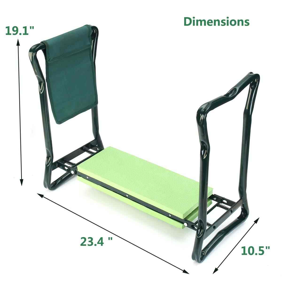 Cool Garden Kneeler With Folding Handles Stainless Steel Garden Stool With Eva Kneeling Pad Gardening Chair Pdpeps Interior Chair Design Pdpepsorg