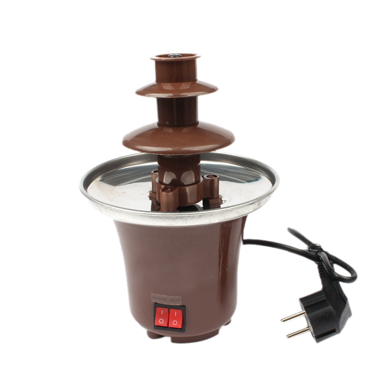 Eu Plug Mini Chocolate Fondue, Electric Stainless Steel Fondue Pot Chocolate Melting Machine Dipping Dessert Fruits Butter Che