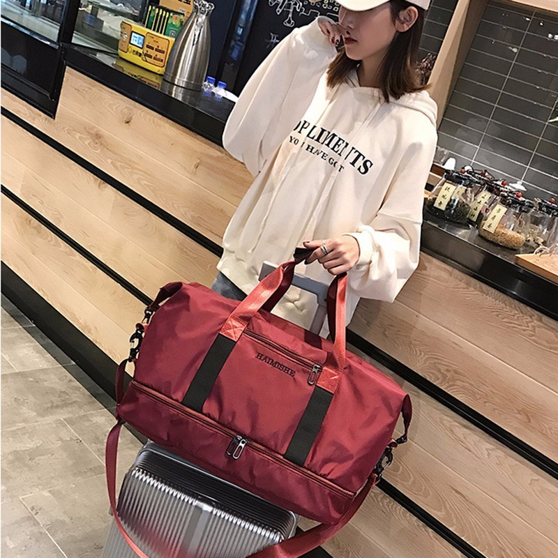 Woman And Male Travelling Bags Oxford Single Shoulder Bag Women Bags Light A Short Trip Portable Fashion Travelling Bag in Travel Bags from Luggage Bags