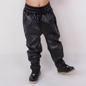 Image 2 - Heroprose แฟชั่นเสื้อผ้าเด็กเสื้อผ้าเด็กผู้ใหญ่ hip hop baggy harem กางเกง PU หนัง Faux ด้านหน้าจีบเต้นรำกางเกงผอม