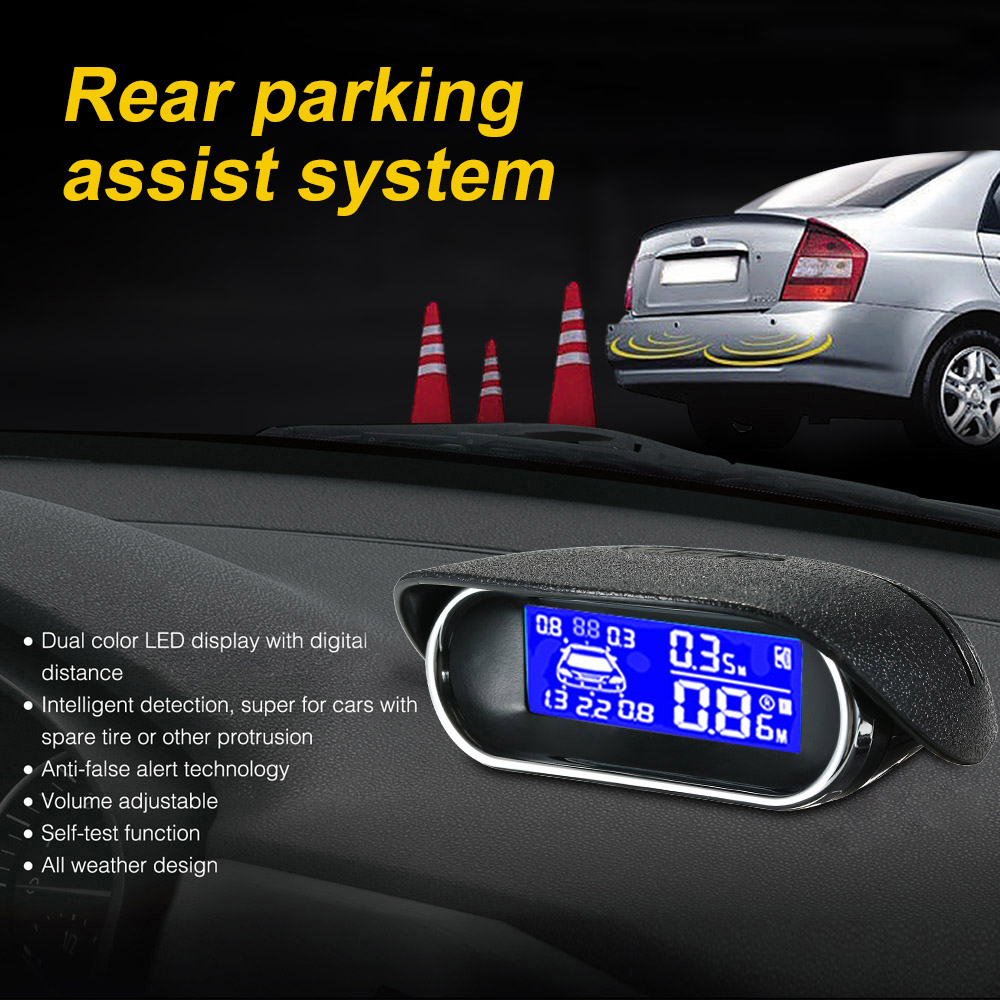 Car Auto Parktronic Parking Sensor With 8 6 Sensors Reverse Backup Car Parking Radar Monitor Detector