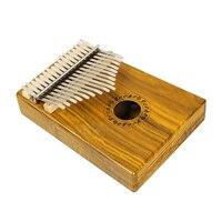 GECKO Portable Kalimba Mbira Sanza 17 Keys C Tune Thumb Piano With Tune Sticker Musical Notation Koa Wood Mahogany Wood