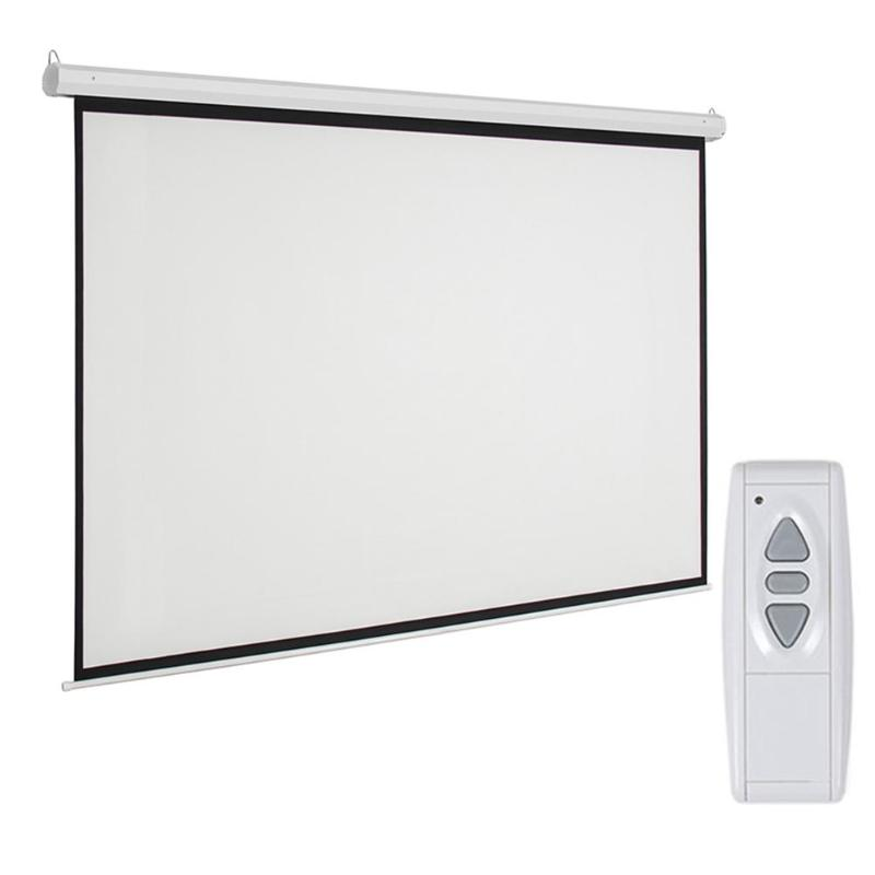 Leadzm 92 inch 16:9 Electric Motorized Projector Projection Screen with Remote Control US Plug for Most Type ProjectorLeadzm 92 inch 16:9 Electric Motorized Projector Projection Screen with Remote Control US Plug for Most Type Projector