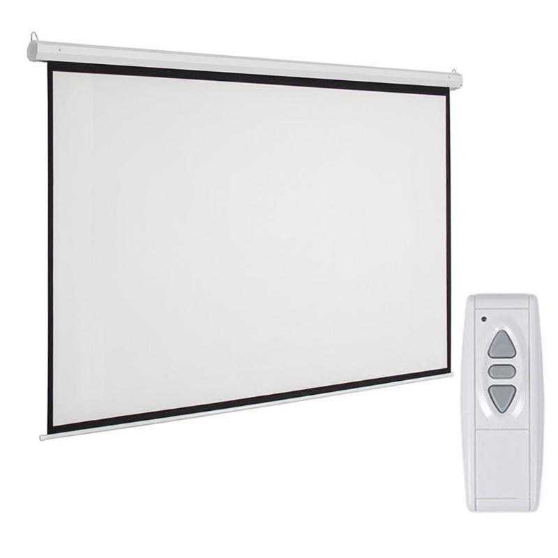 Leadzm 92 pouces 16:9 écran de Projection de projecteur motorisé électrique avec télécommande prise US pour la plupart des types de projecteur