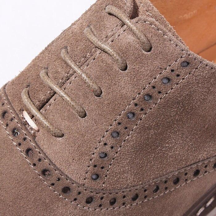 as Nueva As Shown Gamuza Cuero Punta Negocios Llegada De Oxford Shown Del Zapatos Tallados Casuales Estilo Eu44 Británico Bullock Redonda Los Hombres rrRwU