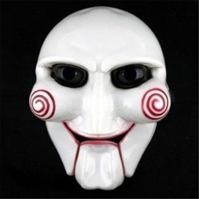 Popular Masquerade Horror Máscara Halloween Carnival Party Cosplay Billy Elétrica Jigsaw Puppet Saw Máscara Masquerade Costume Prop