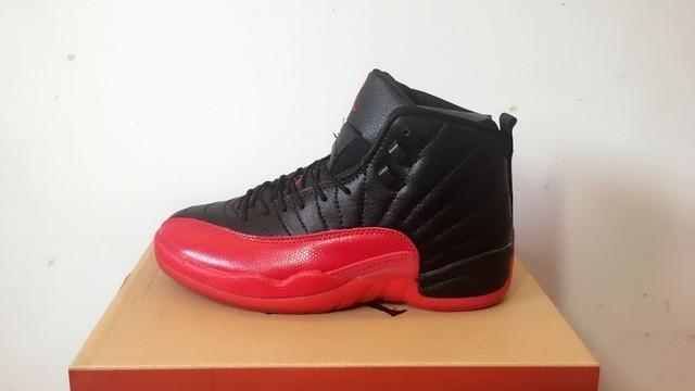 release date e0b15 c7fd2 Jordan Air Retro12 XII Basketball Shoes High-Top Sneakers Basketball Shoes  Black Red JORDAN 12