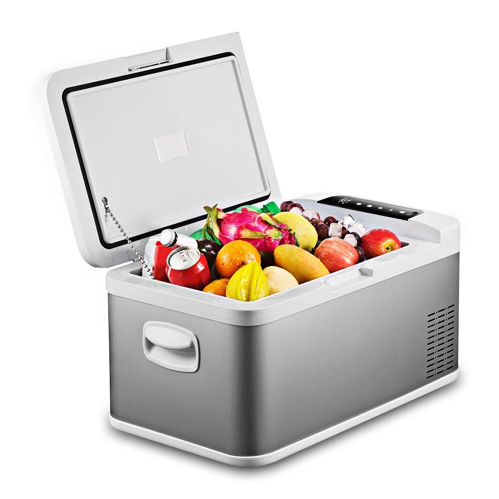 DC 24V 12V Car Refrigerator Freezer Cooler 18L Portable Car Fridge Compressor AC 100-240V For Car Home Refrigeration -20 Deg.C