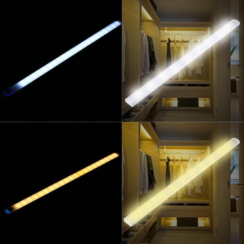 30cm  6W 21LED USB Touch Sensor Strip Dimmable LED Bar Lamp Under Shelf Desk Light For Bedroom Bedside Closet Cabinet Bathroom