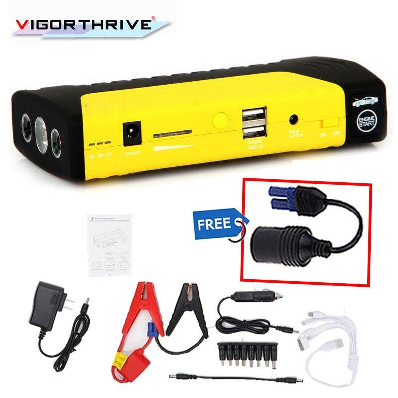 Voiture batterie externe de haute qualité saut démarreur 68800 mAh voiture Jumper démarrage 12 V 4 USB puissance batterie chargeur pour ordinateur portable et téléphone portable