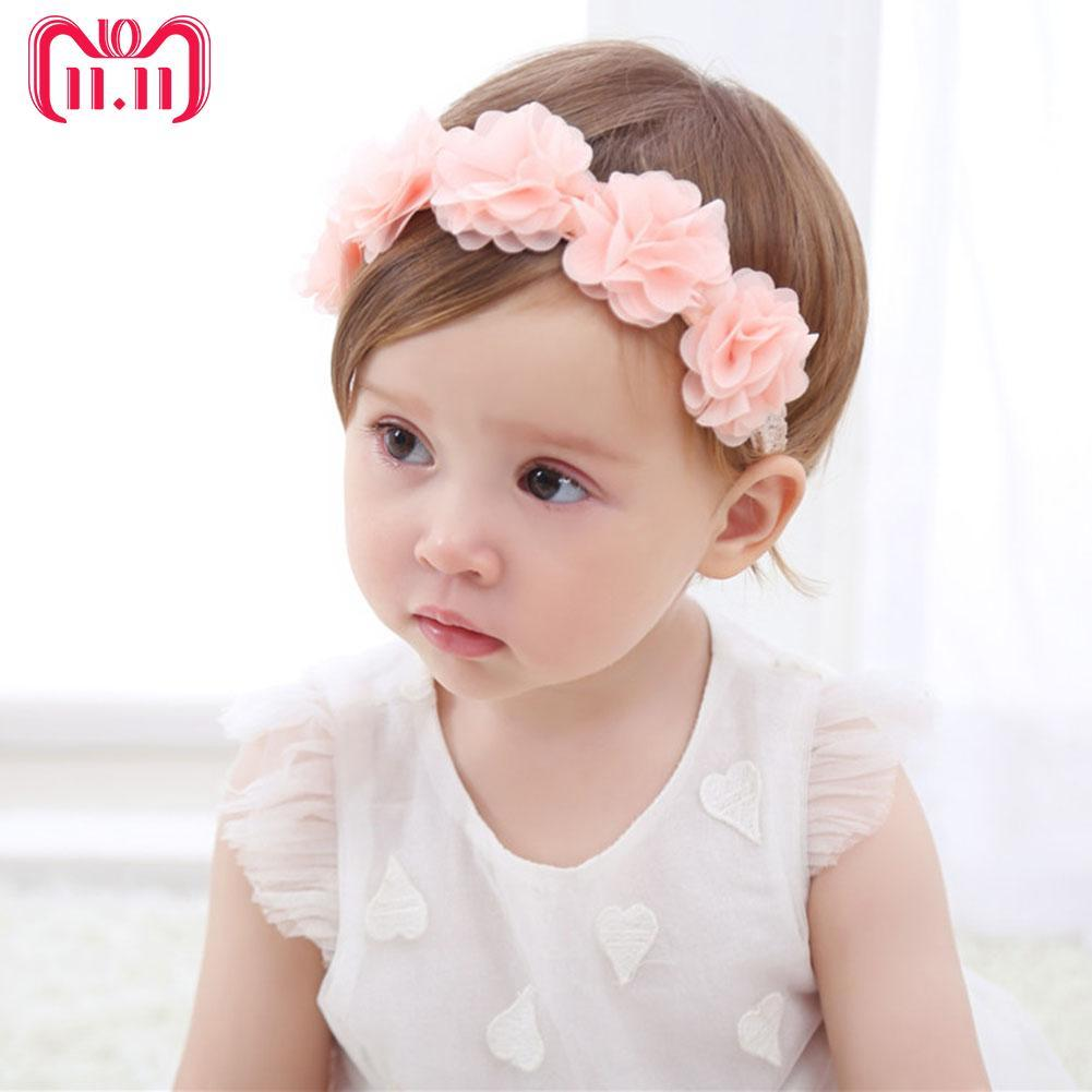 Top Baby Flower Headband Infant Newborn Baby Girl Toddler Christening Photo Prop Kids' Clothing, Shoes & Accs
