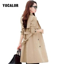 2019 Vintage Female Overcoat Coats Womens Windbreakers Autumn Trench Coat For Wo