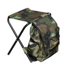 ABGZ-Portable Folding Fishing Chairs Camouflage Outdoor Multi-Function Leisure Storage Bag Chair