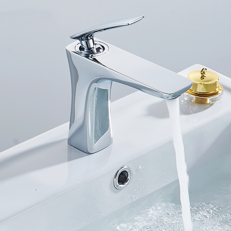 Chrome Bathroom Faucet Basin Faucets Sink Mixer Tap Brass Made Deck Mounted Basin Faucet Bathroom Tap Basin Mixer poiqihy chrome sense basin faucets single hole foaming nozzle mixer tap battery power free faucet bathroom sink deck mounted