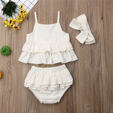 Baby Girls Clothes Set 3pcs 1-4T Outfits