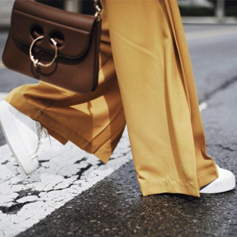 Yellow Pièces Longues Oa708 Printemps Hauts V À eam Asymétrique Bouton Nouveau Femmes Deux Manches Pantalons Costume Col Poches Vintage Jaune ZYqHUqw