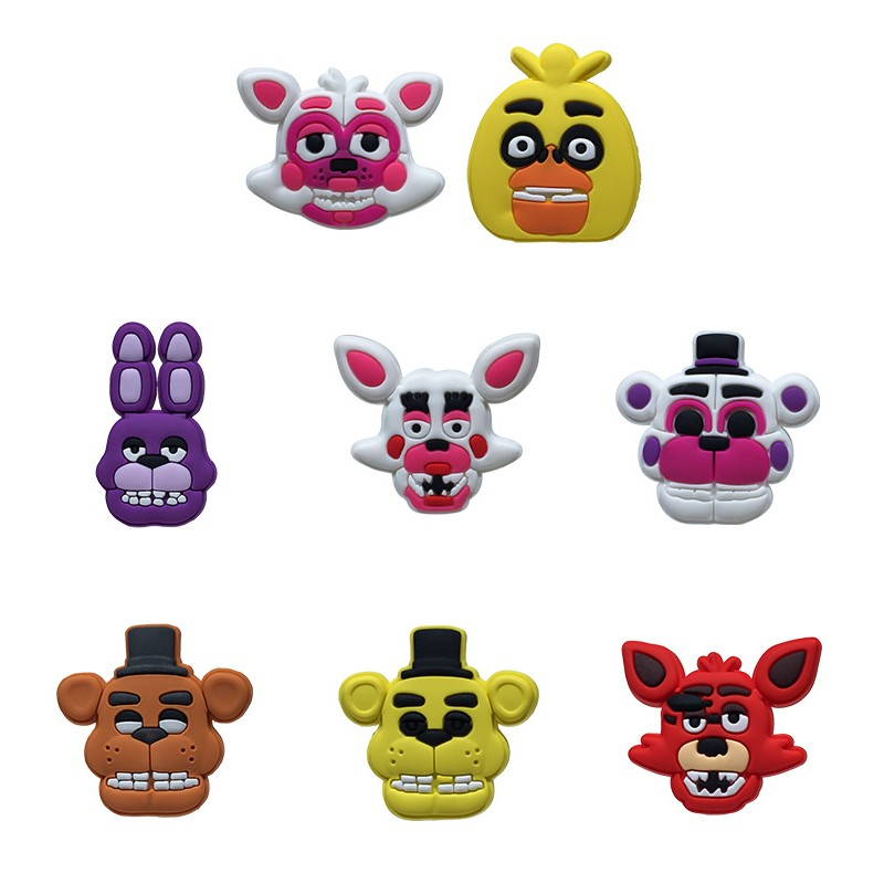 8pcs/lot Five Nights At Freddy's Hot Cartoon Pvc Cute Blackboard Decoration Magnets Magnetic Stickers Kids Birthday Gift Long Performance Life
