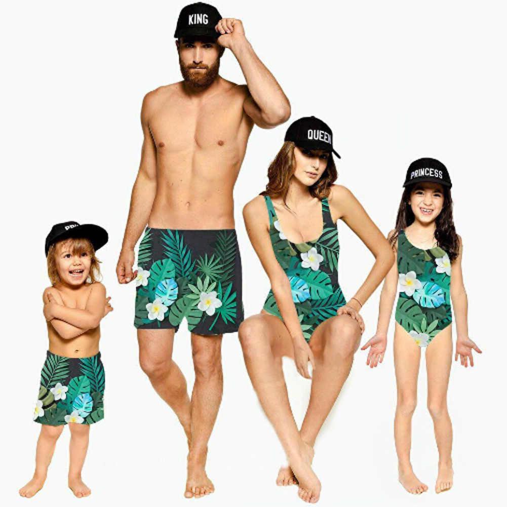 01da1f9aaf Family Matching Swimwear Men Women Kids Boys Girls Floral Bikini Pants  Beachwear Swimwear Women Men Baby