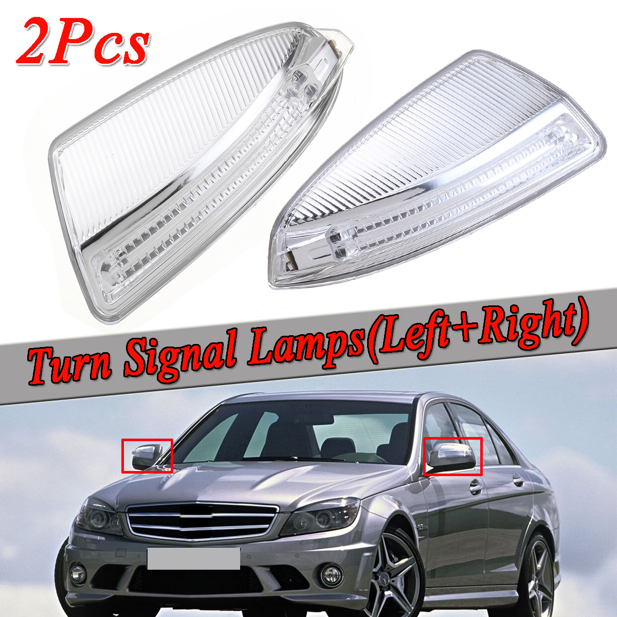 Left/Right Door Rearview Mirror Turn Signal Lamps Lights Auto For Mercedes For Benz ML Class W164 ML300 ML500 ML550 C Class W204