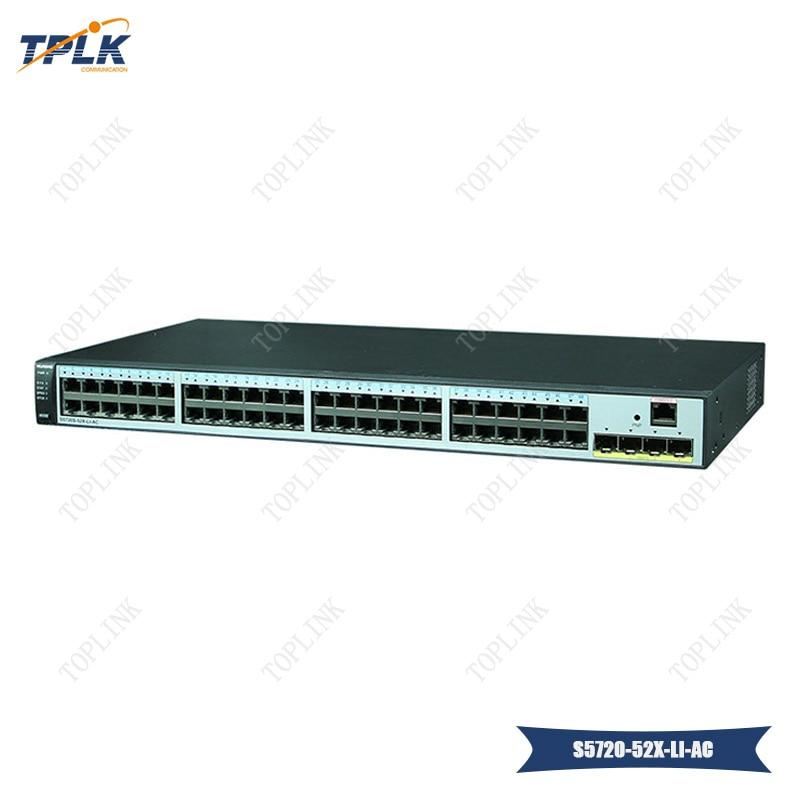 Hot sale Flexible Ethernet networking hua wei S5720-52X-LI-AC Switch, with 48 Port Gigabit network Switch with 4 10g SFP uplinks