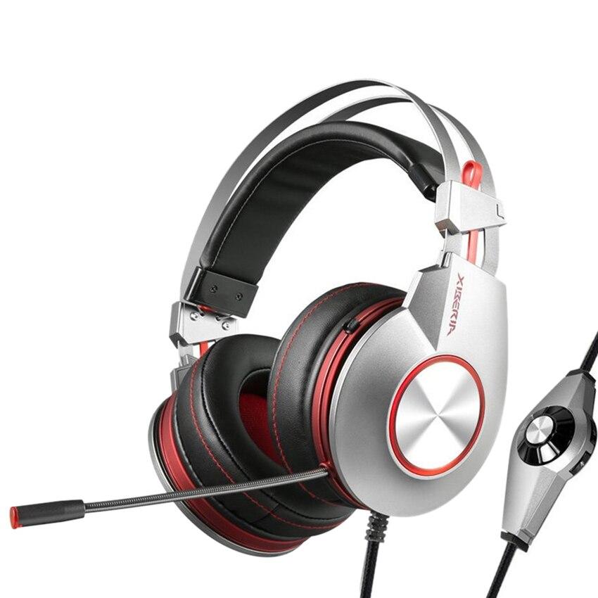 K5 meilleurs écouteurs de jeu avec Microphone USB 7.1 son casque de jeu de basse lourde pour PC Gamer PS4 Xbox one téléphone