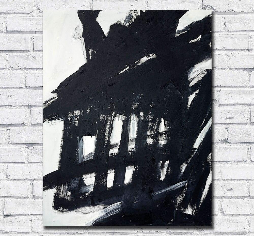 Franz Kline abstrato Pintado À Mão Pintura Da Lona Pintura A Óleo Arte Da Parede Pintura Da Lona para a Decoração Home Sala de estar Sem Quadros