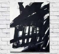 Abstrait peint à la main toile peinture Franz Kline peinture à l'huile mur Art toile peinture pour décor à la maison salon pas de cadres