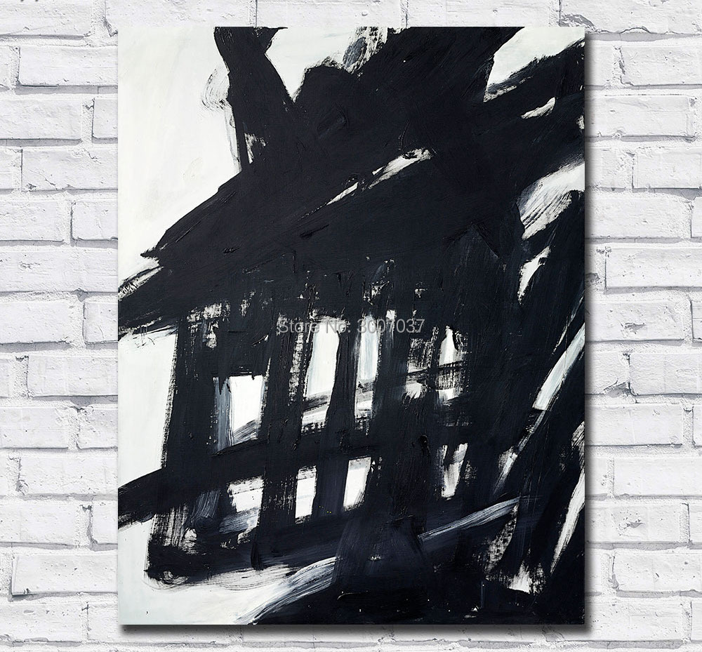 Abstract Hand Painted Canvas Painting Franz Kline Oil Painting Wall Art Canvas Painting for Home Decor Living Room No Frames